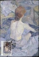 CM Carte Maximum  Maximum Card Toulouse Lautrec  Frau Bei Die Toilette - Impressionisme