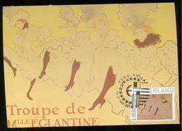 CM Carte Maximum  Maximum Card Toulouse Lautrec  Troupe De Eglantier - Nudes