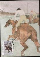 CM Carte Maximum  Maximum Card Toulouse Lautrec  Horse Jockey Reiter - Nudes