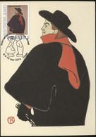 CM Carte Maximum  Maximum Card Toulouse Lautrec Aristide Bruant - Impressionisme