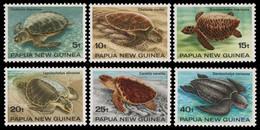 Papua-Neuguinea 1984 - Mi-Nr. 467-472 ** - MNH - Schildkröten / Turtles - Papua-Neuguinea