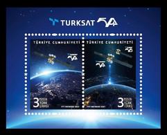 Turkey 2021 Mih. 4638/39 (Bl.209) Space. Türksat 5A Satellite MNH ** - Nuovi