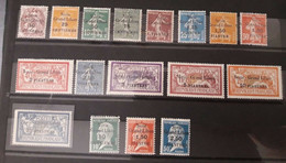 Syria, Syrie, Syrien, 1923 Complete Post Set Of Syr- Gr. Leban MH * - Unused Stamps