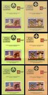 ST.VINCENT 1986 PERF.+IMPERF.+ SPECIMEN Scouting Art Flags Baron Baden Powell OVPT:CAPEX-Australia Sheetlets:6 UNISSUED- - St.Vincent (1979-...)