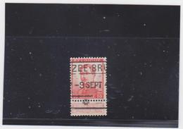 Belgie Nr 123 Zee - Brugge (Treinstempel) - 1912 Pellens