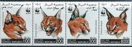 # SOMALIA - 1998 - Caracal Caracal - Feline Mammal Animal - 4 Stamps MNH - Somalia (1960-...)
