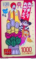 1000 Yen McDonald's Japanese U-card - Altri