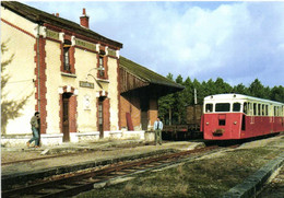 Gare De PRUNIERS ( 41) Ligne Du Blanc à Argeny Sur Sauldre Autorail De Dion De Type OC2 RV - Sonstige Gemeinden