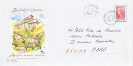 D1443 - Entier / Stationery / PSE -Beaujard - Ayron, Brousse Le Château (agrément 809 - B2K/10R112) - Prêts-à-poster:Overprinting/Beaujard