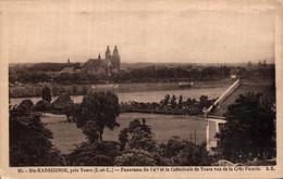 Sainte Radegonde Pres De Tour Panorama Du Golf Et La Cathedrale De Tours Vue De La Cote Fleurie  CPA - Sonstige Gemeinden