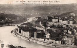 LYON ( 69 ) - Panorama Sur La Saône , Vaise Et Serin - Vue Prise De La Terrasse Du Passage Gay - Non Classés