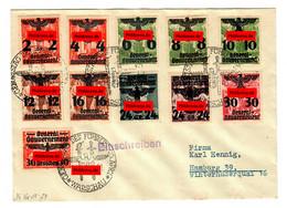 GG: Henning Brief 1941 Mit Den Marken Ex. MiNr. 14-39 - Occupation 1938-45