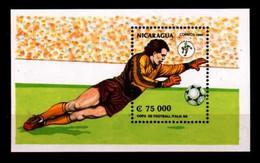 # NICARAGUA - 1990 - Calcio Football Soccer Italia - Stamp Sheet MNH - Nicaragua