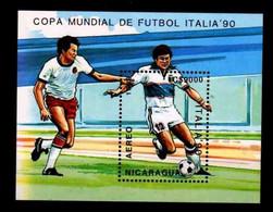 # NICARAGUA - 1989 - Calcio Football Soccer Italia 1990 - Stamp Sheet MNH - Nicaragua
