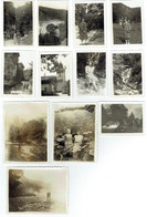 Lot De 12 Photographies Sur Papier Petit Format - Région Meyriat & Pertes Du Rhône (01) - Année 1930 - Luoghi