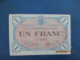 Villefranche Sur Saone Chambre De Commerce Billet Necessite 1 F - Handelskammer