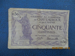 Chateauroux Chambre De Commerce  Billet De Necessite 50 C - Cámara De Comercio