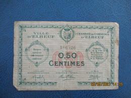Elbeuf Chambre De Commerce  Billet De Necessite  0.5 - Handelskammer