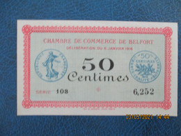 Belfort  Chambre De Commerce  Billet De Necessite   50c - Handelskammer