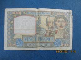 Sciences Et Travail Billet 20 F France U 3336 , 437 ,ez 1941 - 20 F 1939-1942 ''Science Et Travail''