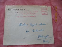 Ema 1950 Lille Bourse La Voix Du Nord C 1121  Empreinte Machine Affranchir - Freistempel