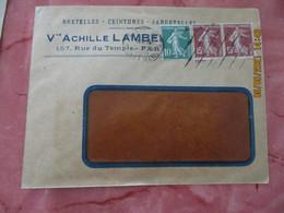 Flamme Omec  8 Lignes Oblique Paris 11 Arts Et Metiers Lettre - 1921-1960: Modern Period