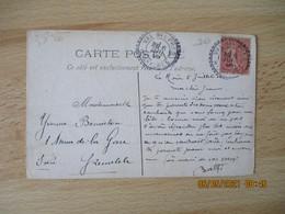 1908 Val Des Pres   Hautes Alpes Facteur Boitier Bureau Distribution Cachet B 3 - 1877-1920: Semi-Moderne
