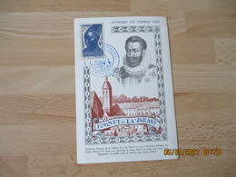 1946 Cotonou Dahomey C M Carte Maximum Journee Du Timbre - Cartas