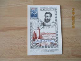 1946 Tunis  C M Carte Maximum Journee Du Timbre - Storia Postale