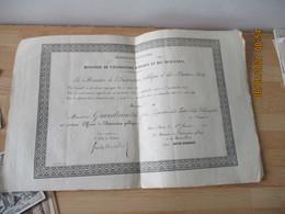 1889 Lot De 2 Diplomes  Nomination Officier D Academie Et Officier Instruction Publique 1910 - Diplômes & Bulletins Scolaires