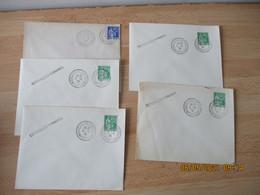 5.4.1939 Lot De 5 , Congres Versailles Postes Obliteration Lettre - 1921-1960: Moderne