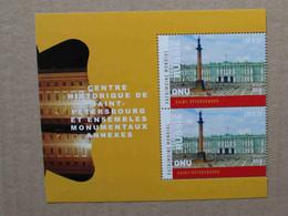 Ge20-02 : Nations-Unies (Genève) - Patrimoine Mondial Russie, Centre Historique De Saint-Petersbourg - Neufs