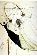 SALVADOR DALI  Alice Au Pays Des Merveilles RV - Malerei & Gemälde
