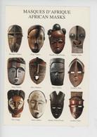 Afrique : Masques D'Afrique - Afrikan Masks (nouvelles Images Cp Vierge N°1570) - Objetos De Arte