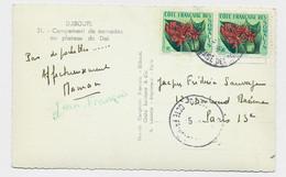 COTE FRANCAISE DES SOMALIS 10FR PAIRE  1960 CARTE CAMPEMENTS DE NOMADES - Non Classés