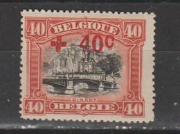 Belgique  1918   N° 158  Neuf X  Croix Rouge - Unused Stamps