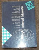 FIDE CHESS INFORMANT Vol.40 Of 1985 YUGOSLAVIA ŠAHOVSKI INFORMATOR SCHACH ECHECS AJEDREZ XADREZ SCACCHI SJAKK ШАХМАТЫ - 1950-Oggi