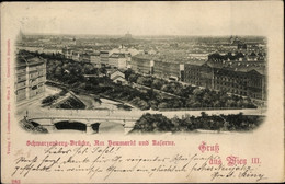 CPA Wien III., Schwarzenberg-Brücke, Neumarkt, Kaserne - Otros