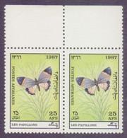 AFGHANISTAN 1987 - Butterflies, MNH PAIR - Afghanistan