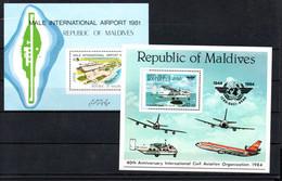 T1-3 Maldives PA BF N° 75 + 99 ** A Saisir !!! - Maldives (1965-...)