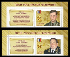 Russia 2018  Heroes Counterintelligence. Heroes Of The Russian Federation. Mi 2645-46 With Labels - Nuevos