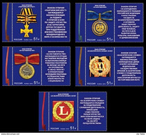 Russia 2018  State Awards Of The Russian Federation. Mi 2647-51 - Nuevos