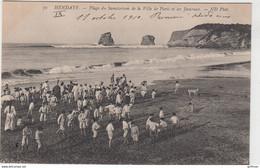 HENDAYE PLAGE DU SANATORIUM DE LA VILLE DE PARIS ET LES JUMEAUX 1910 TBE - Hendaye