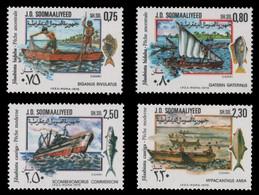 Somalia 1979 - Mi-Nr. 274-277 ** - MNH - Schiffe & Boote / Ships & Boats - Somalia (1960-...)