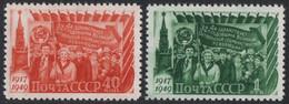 Russia / Sowjetunion 1949 - Mi-Nr. 1397-1398 ** - MNH - Ungebraucht