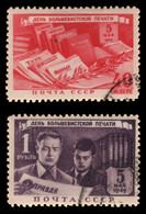 Russia / Sowjetunion 1949 - Mi-Nr. 1343-1344 Gest / Used - Gebraucht