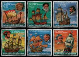 Guinea-Bissau 1981 - Mi-Nr. 595-600 A ** - MNH - Schiffe / Ships - Guinea-Bissau