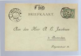 Kleinrond DE KNIJPE 1900 (EZ-4) - Poststempels/ Marcofilie