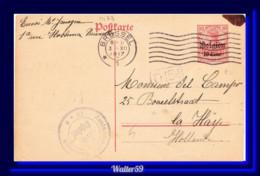 1917 Dt. Reich Besetzung Belgien Ganzsache Bruxelles Gel. N. Niederland Postkarte Brussels - Entiers Postaux