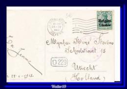 1915 Dt. Reich Besetzung Belgien WWI Auf Ak Von Capri Italien Gel. Antwerpen N. Niederland Postkarte 2scans - Occupation 1914-18